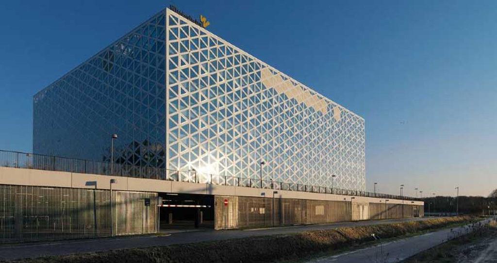 Parkeergarage Hogeschool Windesheim, Zwolle - Roosterpanelen